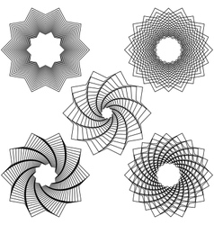 Five black spirals vector image