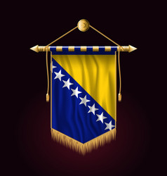 flag of bosnia and herzegovina festive vertical vector image