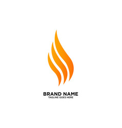 flame logo design inspiration vector image