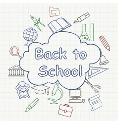 Freehand school vector image