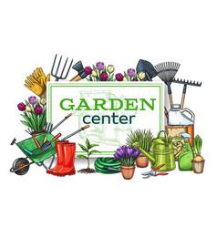 Gardening poster vector