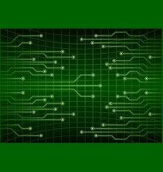 green abstract cyber future technology concept vector image