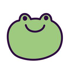 Green face frog farm cartoon animal vector