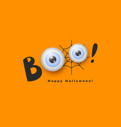 halloween holiday design hand drawn boo with 3d vector image