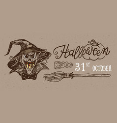 Halloween night banner vector