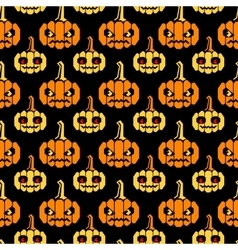 Halloween straight lines pattern with pumpkins vector image