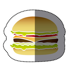 hamburger fast food icon vector image vector image