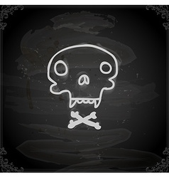Hand Drawn Skull and Bones vector