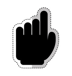 Hand human index silhouette isolated icon vector
