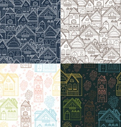 Home background set vector