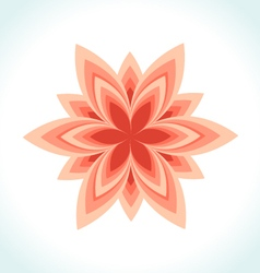 Icon logo flower beauty vector