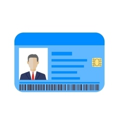 Id cards template with man vector