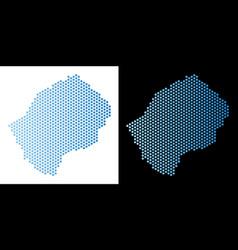 Lesotho map hex tile mosaic vector