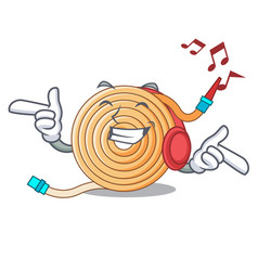 Listening music water hose to extinguish the fire vector