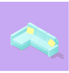 Low poly isometric sofa vector