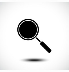 Magnifying glass or search icon vector
