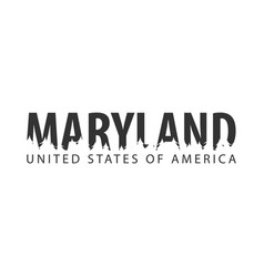 maryland usa united states of america text or vector image