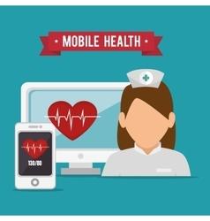 mobile health design vector image