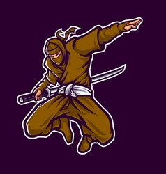 Ninja mascot vector