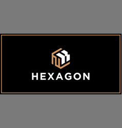 Nk hexagon logo design inspiration vector