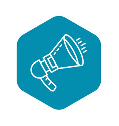 Noise megaphone icon outline style vector