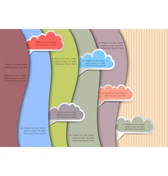 Paper background with clouds for speech vector