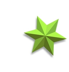 Paper star vector