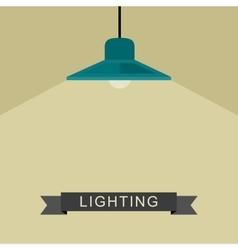 Pendant lamp light vector image