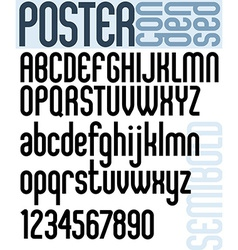 Poster Classic style font with rounded corners vector image