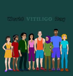 Poster design for world vitiligo day vector