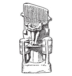 Pottery model of the water organ is a early types vector