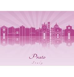 Prato skyline in purple radiant orchid vector image