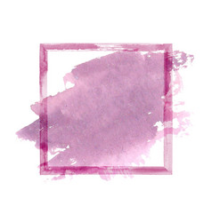 Purple pink watercolor grunge frame vector