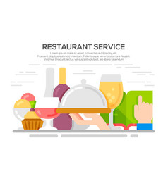 restaurant service concept vector image