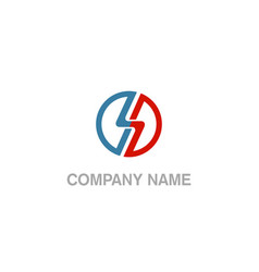 round line technology business logo vector image