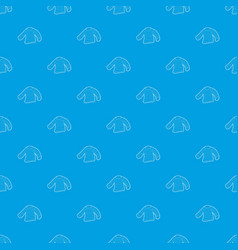 seaman clothes pattern seamless blue vector image