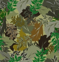 seamless bright camouflage leaves different vector image