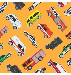 Seamless pattern service cars vector