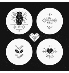 Set of Tribal stickers vector