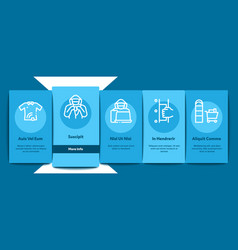 shoplifting onboarding elements icons set vector image