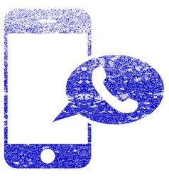Smartphone call balloon textured icon vector