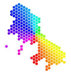 Spectrum hexagon skyros greek island map vector