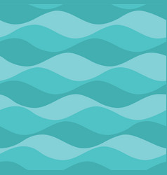Teal waves seamless pattern background vector