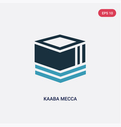 Two color kaaba mecca icon from religion concept vector