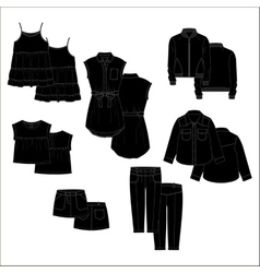 Vecor kids clothes Black color vector image