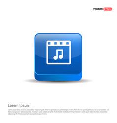 web film icon - 3d blue button vector image
