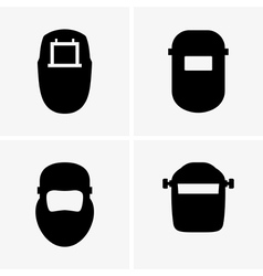 Welding masks vector