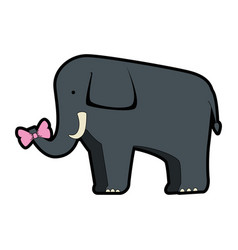 wild elephant isolated icon vector image