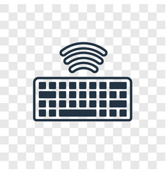 Wireless keyboard concept linear icon isolated on vector