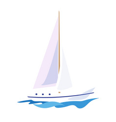 yacht on the water vector image